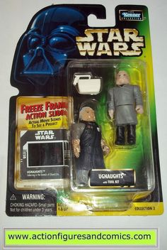 star wars action figures UGNAUGHTS power of the force hasbro toys moc mip mib