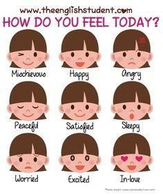 ESL, mood, adjectives, feelings