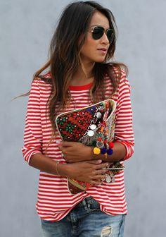 Celebrate America in Good Fashion: Red, White, & Blue Color Combos via @obaz