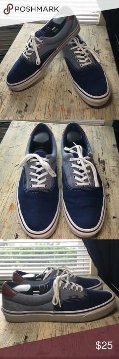 Two tone blue era vans Two tone blue era vans. Excellent condition. Men's 10/Women's 11.5 Vans Shoes Sneakers