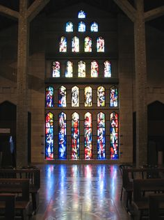 """""""Nazareth - Church of the Annunciation - Stained Glass"""" by *Checco* on Flickr - Nazareth - Church of the Annunciation - Stained Glass"""