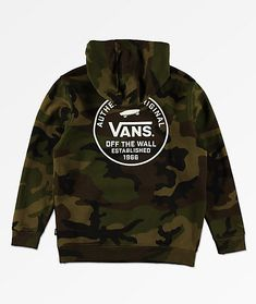 93d057e6453ec Add the style of camo to your closet with the SVD Original hoodie from Vans.