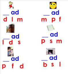 Word families Smart Board lesson