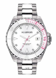 K&BROS Women's 9175-4 Steel Casual Watch K&Bros. $114.40. Water-resistant to 165 feet (50 M). Stainless-steel case. Case diameter: 34 mm. Protective mineral crystal. Precise Quartz movement