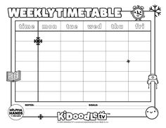 Start off the year right with this customizable January Weekly Timetable printable! Activity Sheets, Some Fun, Fun Activities, Organize, January, Printables, Organization, Tv, School
