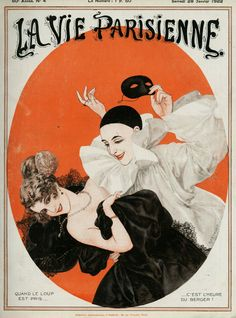 Chéri Hérouard (1881 – 1961). La Vie Parisienne, 28 Janvier 1922. [Pinned 27-viii-2020] Images Vintage, Vintage Artwork, Vintage Posters, France Drawing, Illustration Art Nouveau, Mystic Messenger Memes, Advertising Archives, Image Nature, Kunst Poster