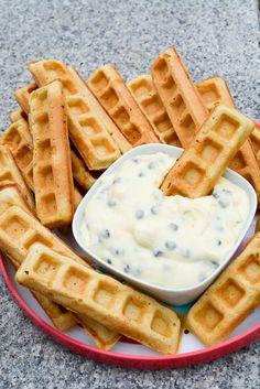 Waffle Sticks with a Cannoli Dip