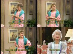 Golden Girls. Blanche, please.