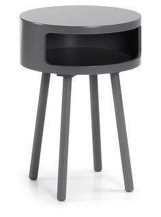 Kurb bijzettafel 40 cm - grijs - LaForma
