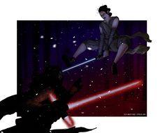 Ren vs Rey by ChemiRos on DeviantArt