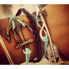 Used to have the infinity bracelet, but it broke :( Love the anchor!