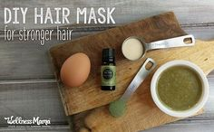 Deep condition brittle, dry hair with this DIY hair mask straight from the kitchen! Eggs, honey, gelatin, and horsetail strengthen and moisturize naturally.