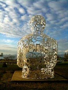 We by Spanish artist Jaume Plensa. Photo by Vincent Argiro.