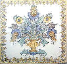 habán kerámia - Google keresés Tile Art, Tiles, Vintage World Maps, Creations, Ceramics, Embroidery, Image, Google, Collection