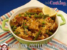 Entra y aprende con nosotros a preparar la receta de arroz con costillas de cerdo y verduras, un plato muy sabroso y económico, fácil de realizar!