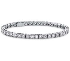 9 inches HallMarked 14K Yellow Gold IJ| SI 2 cttw Round-Cut-Diamond bangle-bracelets Size