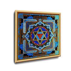 #SHRI_BAGLA_MUKHI YANTRA #ENERGETISCHE_Kunst von #Art_Heil_Studio #Dr_Mariia_Bohach (#MariRich) #kunst #malerei #regenbogen #jubilaum #muttertag #mandala #yantra #geschenk #geburtstag #meditation #art_therapie Meditation, Etsy, Vintage, Studio, Frame, Home Decor, Art Therapy, Rain Bow, Mother's Day