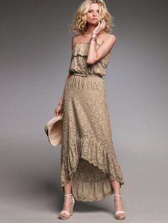 RARE VICTORIA'S SECRET MAXI DRESS LACE SMOCKED MEDIUM NEW RETAIL$88.00 #VictoriasSecret #Maxi #SummerBeach