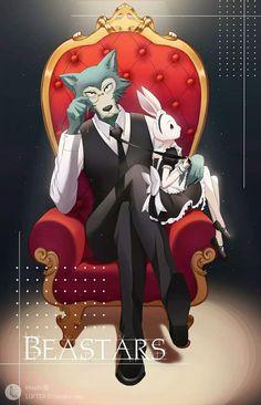 Beastars haru and legoshi Anime Oc, Fanarts Anime, Anime Nerd, All Anime, Anime Characters, Manga Anime, Pink Wallpaper Anime, Teen Titans, Furry Art