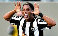 Ronaldinho's goal celebration