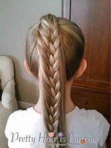Pretty Hair is Fun: Ladder Braid Ponytail/ Pulled Braid Updo