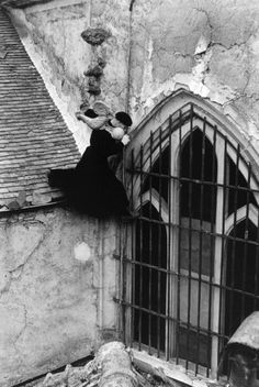Edouard Boubat - Le curé de Buc, France, 1957.