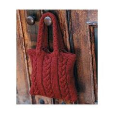 Ladies' Cabled Bag Knitting Pattern - FREE Knitting Pattern