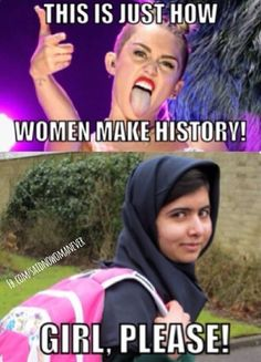 Miley vs. Malala?