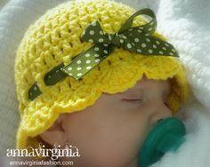 Fab Art DIY Crochet Summer Sun Hat Free Pattern