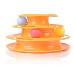Nouveau 2016 Vente Chaude Top Qualité Drôle Chat Animal Jouet Chat jouets Intelligence Triple Play Disque Chat Jouet Boules 233g Poids Livraison gratuite