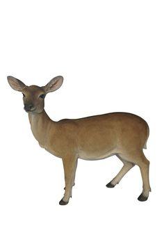 Doe Deer Garden Statue   Large