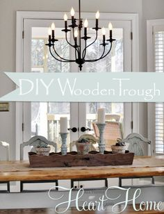 Wooden Trough – DIY » All Things Heart and Home