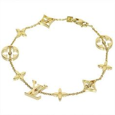 Louis Vuitton Monogram Design Chain Bracelet Bangle In 18k Yellow Gold... ($2,899) ❤ liked on Polyvore featuring jewelry, bracelets, bangle bracelet, monogram bangle bracelet, hinged bangle, 18k gold jewelry and monogram jewelry