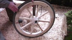 Wooden wheels cost a fortune to buy – but I found an easy way of making them for almost nothing. Apart from a bit of fiddly woodwork, there is a major challe...