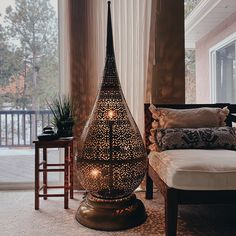 Ash loved their purchase from LittleLightBazaar Moroccan Floor Lamp, Moroccan Decor, Ashes Love, American Idol, Hanging Chair, Console Table, Boho Decor, Your Space, Light Fixtures