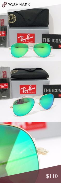 c1a0838fd64 RAY-BAN RB 3025 112 P9 POLARIZED GREEN FLASH I have up for sale
