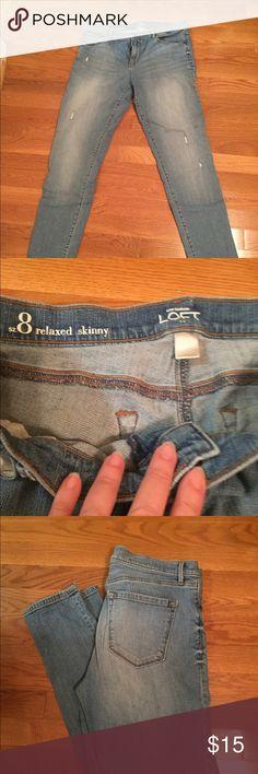 Ann Taylor Loft Skinny Jeans Ann Taylor Loft Skinny Jeans. Relaxed fit. Size 8 Ann Taylor Jeans Skinny