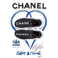 Una Gran Colaboración PharrellXChanel By  @adidasoriginals @colette  #fashion #moda #limitededition #sneakers #addict #design @pharrell @chanelofficial #collaboration @adidasoriginals #boutique @colette #paris #city #fashionstyle #pharrellxchanel #sportwear #like4like #blogger #fitting #logo #working #byme #ilovefashion #followme #likeforlike #photography #100 #sportfashion #collection