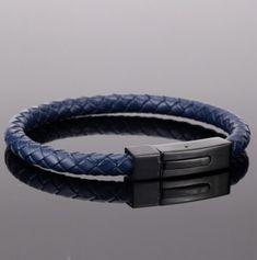 ARNAUD - pánsky náramok - koža v kombinácii s oceľou - dĺžka: 21cm Belt, Bracelets, Accessories, Jewelry, Fashion, Luxury, Belts, Moda, Jewlery