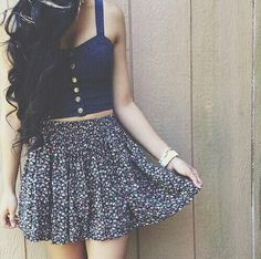 Skater skirt and cropped top