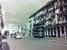 A tram on the Hennessy Road in the 1950s. Photo from Hong Kong Trams by Alan Cheung.