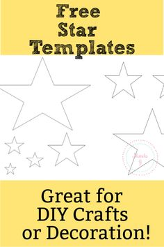 Five Point Star Template - Free Printable Stencil - Works great for bulletin boards or DIY crafts, including stencils for felt crafts! Star Template Printable, Bunting Template, Circle Template, Heart Template, Free Printables, Crown Template, Flower Template, Stencils For Kids, Free Stencils