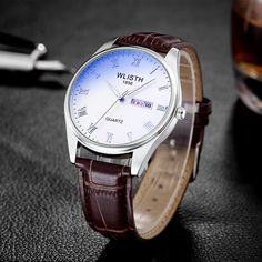 >> Click to Buy << 2017 Fastion Quartz watch men women lover's Leather strap Luminous Blu-ray glass Waterproof strip table double calendar S502-2 #Affiliate