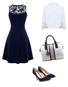 """""""Sunday Church Outfit"""" by torygirl3 ❤ liked on Polyvore featuring Warehouse and Gianvito Rossi"""