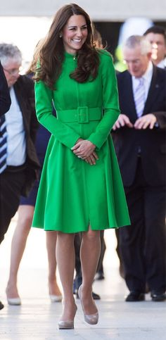 Kate Middleton in Catherine Walker during an Australia Tour event. April, 2014.