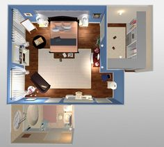 Attraktiv Gossip Girl Blairu0027s Room Layout From Birdu0027s Eye View