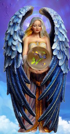 BLUE ANGELIC ANGEL FOR YOU MY FRIENDS ~^~^~^ GINO AND PRECIOUS