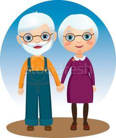 casal idosos desenho - Pesquisa Google
