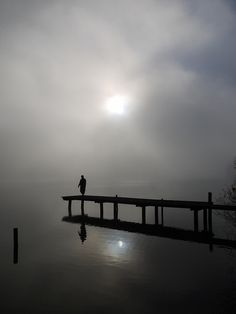 Bridge, shadow, water, reflections, beautiful, bro, silence, lonelines, solitude, clouds, photo.