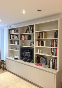 Living Room Wall Storage Elegant Modern Media Unit for Client In Richmond In 2019 Wall Cabinets Living Room, Wall Storage Cabinets, Living Room Bookcase, Living Room Built Ins, Living Room Wall Units, Living Room Storage, Media Furniture, Muebles Living, Built In Bookcase